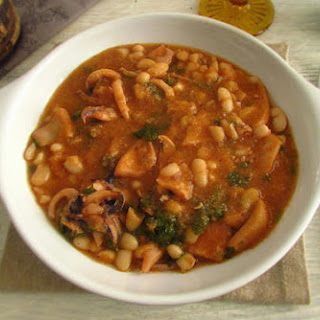 Stewed Cuttlefish With White Beans
