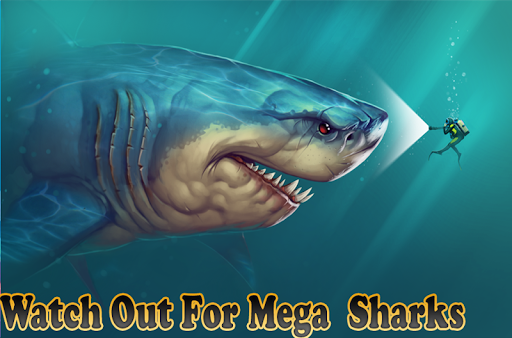 Mega Shark hunting  : Shark Games apktram screenshots 1