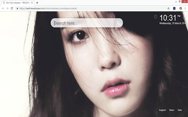 IU (Lee Ji-eun) wallpapers new tab