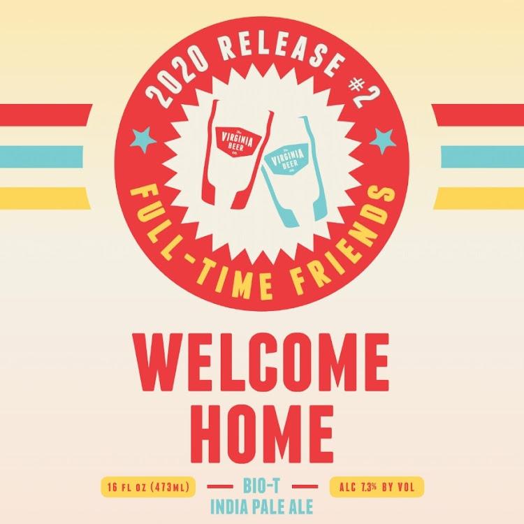 Logo of Virginia Beer Co. Welcome Home