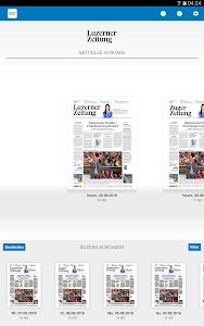 Luzerner Zeitung E-Paper screenshot 0
