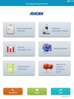 Screenshot of Amgen Oncology Nursing Tool