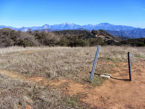 Photo: 12:10 - Glendora Peak (2596'). View east, crowned by Mt. Baldy (10,064). Typically those lofty summits are covered with snow this time of year, but not this year.