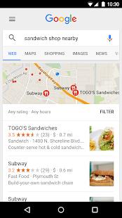 Google – Miniaturansicht des Screenshots
