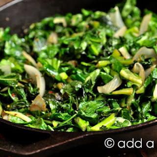 Spicy Skillet Turnip Greens.