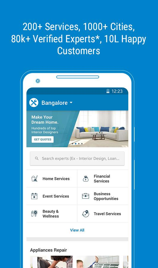 QuikrEasy - Home/Financial/Beauty Services & more- screenshot