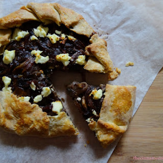Garlic Mushroom, Caramelized Onion & Goat Cheese Galette