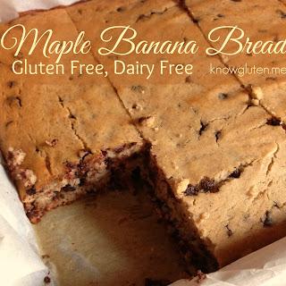 Gluten Free, Dairy Free Maple Banana Bread.