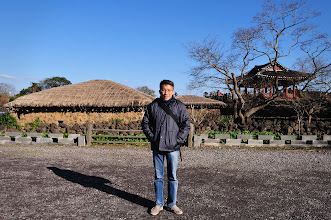 Photo: Cynthia insisted to take a picture of me before leaving the village.