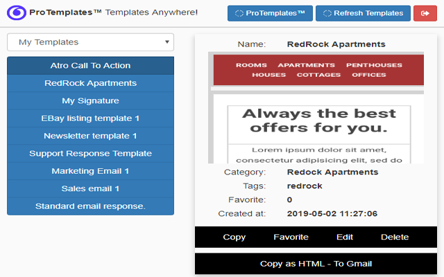 ProTemplates™ - Templates Anywhere!