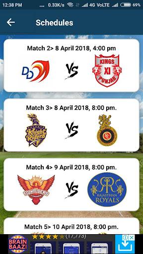 IPL 2018 - Teams, Live Score, Dream11 & Much More 1.0 screenshots 2