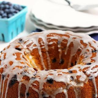 Wild Blueberry Lemon Cream Cheese Pound Cake.