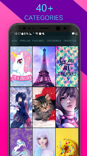 Screenshot for Girly Wallpapers Backgrounds in United States Play Store
