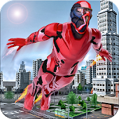 Flying super hero free survival games