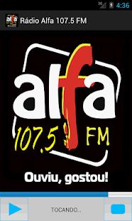Rádio Alfa 107.5 FM- screenshot thumbnail