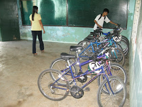 Photo: Bringing in the bikes