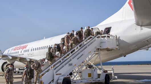 La Legión sale hacia Mali tras solucionar los permisos de vuelo