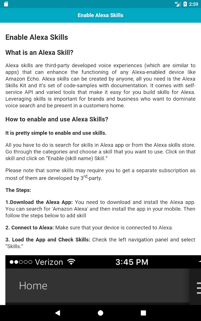 Best Amazon Alexa Skills Android 8