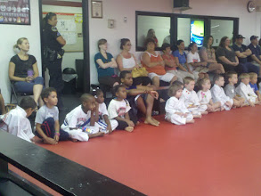 Photo: at a karate class in late June