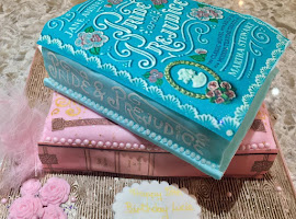Novelty shaped book cakes