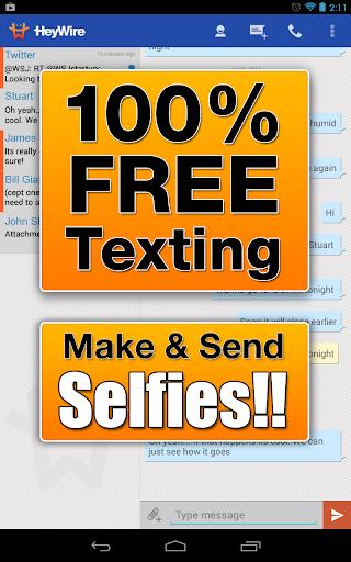 GoHeyWire Text FREE Texting screenshot 4