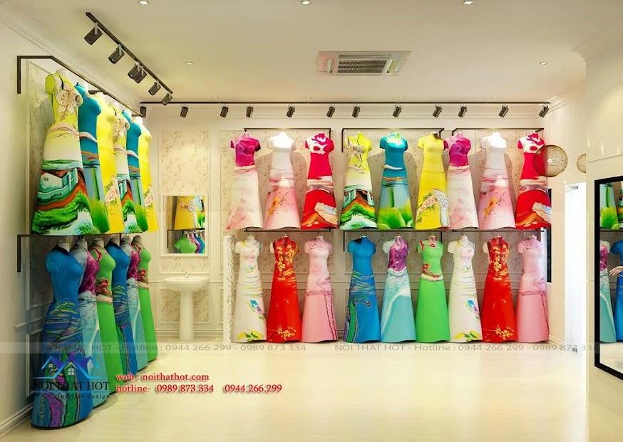 thiết kế shop áo dài cao cấp