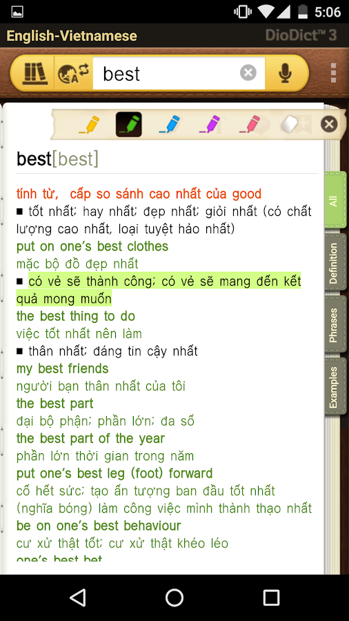 English–Vietnamese dictionary- screenshot