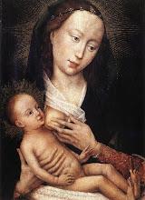 Photo: Portrait Diptych of Jean de Gros. Left wing, 1450-60