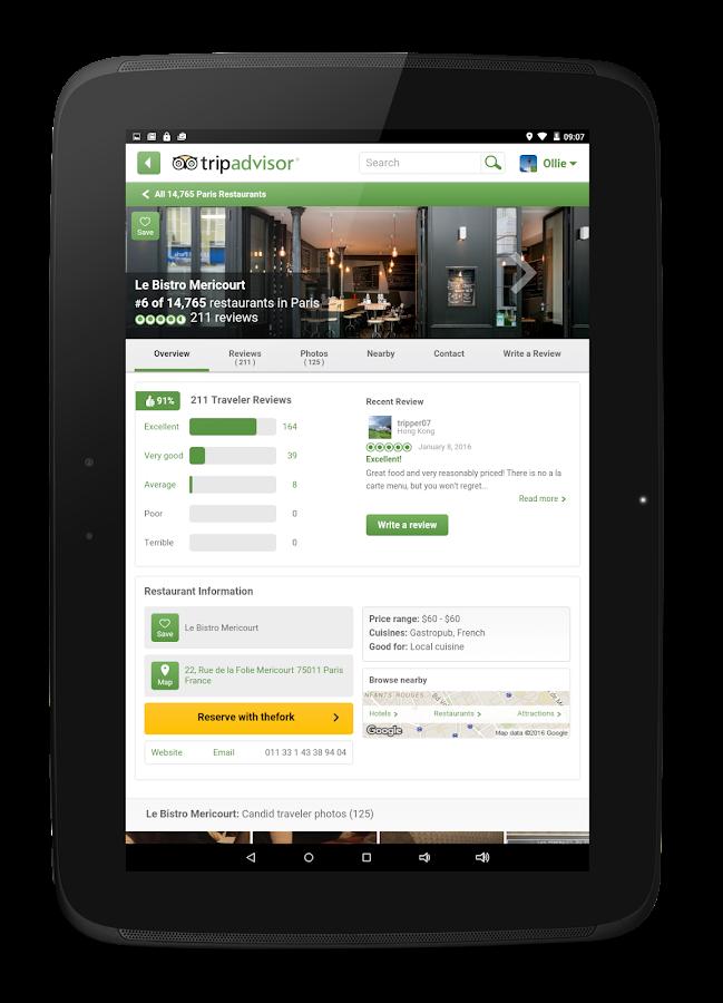 Tripadvisor hotels restaurants android apps on google play for Google hotes