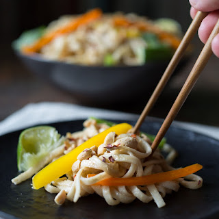 Cold Noodle Salad with Creamy Peanut Sauce.