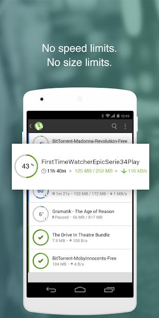µTorrent®- Torrent Downloader screenshot 1