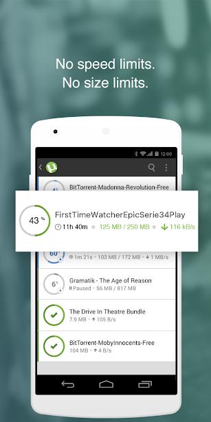 µTorrent- Torrent Downloader screenshot for Android