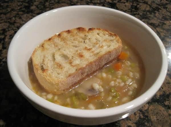 Mushroom, Barley Vegetable Soup