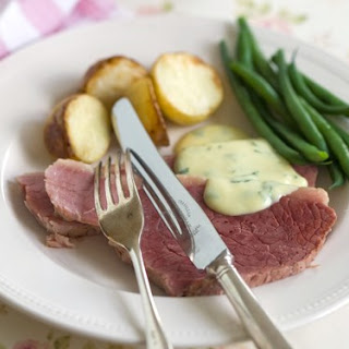Corned Beef With Parsley Sauce.