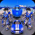 US Police Robot Transform - Police Plane Transport icon