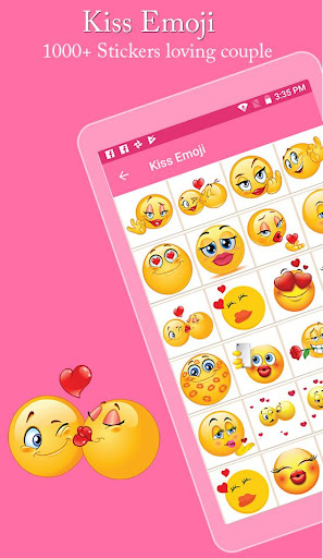 Kiss Emoji - Couple Kiss Stickers 1.0 screenshots 1