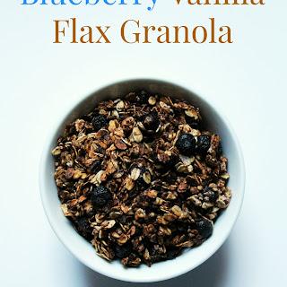 Blueberry Vanilla Flax Granola