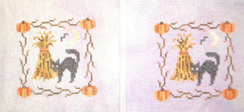Photo: Completed 22 Jun 2007. This is two cats I whomped together. I originally intended to do one for a co-worker, but I love the patterns and the fabric so much that I decided to do another one for me :-). Silkweaver's Intrigue 28ct Lugana.