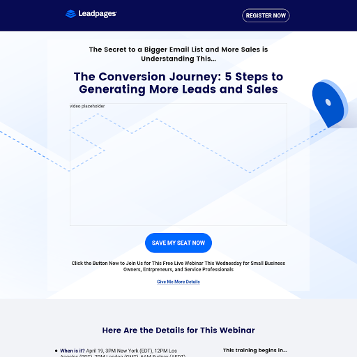 Webinar landing page templates from leadpages leadpages highest converting webinar template pronofoot35fo Choice Image