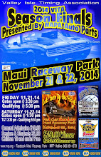 "Photo: Bruce Wheeler's photos from the November 21 & 22, 2014 Season Finale Drag Races at Maui Raceway Park.  PLEASE NOTE: these images are fully copyrighted, by the photographer. Usage without formal permission is prohibited by law. (IN OTHER WORDS; try ask fo' use 'em...please.)  DVDs of all full-size, high resolution images are available dirt cheap. For pricing, please inquire c/o wheelerdealer @ maui-angels . com  For Maui Raceway Park track info online: http://www.mrp.org   For Maui Raceway Park on Facebook: https://www.facebook.com/maui.raceway.park?fref=ts  To see all of my online Maui drags and travel photography albums go here: http://www.maui-angels.com/wheelerdealer/photoalbums.html  Please visit my Wheeler Dealer AA/Fuel Dragsters web pages: http://www.maui-angels.com/wheelerdealer  And, please ""like"" the Wheeler Dealer Facebook page: https://www.facebook.com/pages/Bruce-Wheelers-Wheeler-Dealer-AAFuel-Dragsters/119133934834675?ref=ts&fref=ts  Poster art mahalo to Mark Caires Designs"