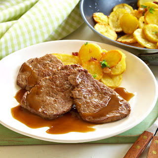 Rinder-Minutensteaks mit Bratkartoffeln