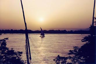 Photo: #015-Coucher de soleil sur le Nil