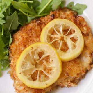 Fried Pork Chops in Lemon Butter Sauce.