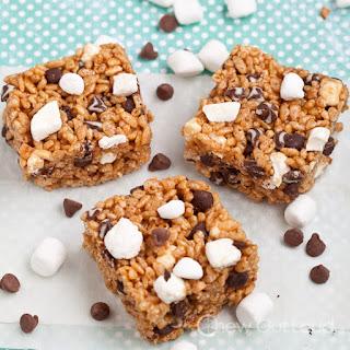 S'mores Peanut Butter Crispy Bars (No-Bake)
