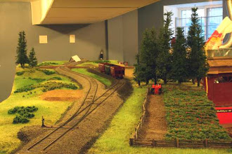 Photo: Long shot of the initial scenery at Marshall's Siding.