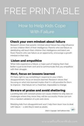 How to help kids cope with failure