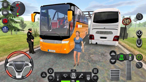 Modern Offroad Uphill Bus Simulator apkpoly screenshots 2