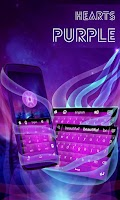 Screenshot of Hearts Purple Keyboard GO