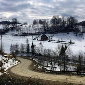 bran, moeciu by Mihai Nita - Instagram & Mobile Android ( winter, mountain )