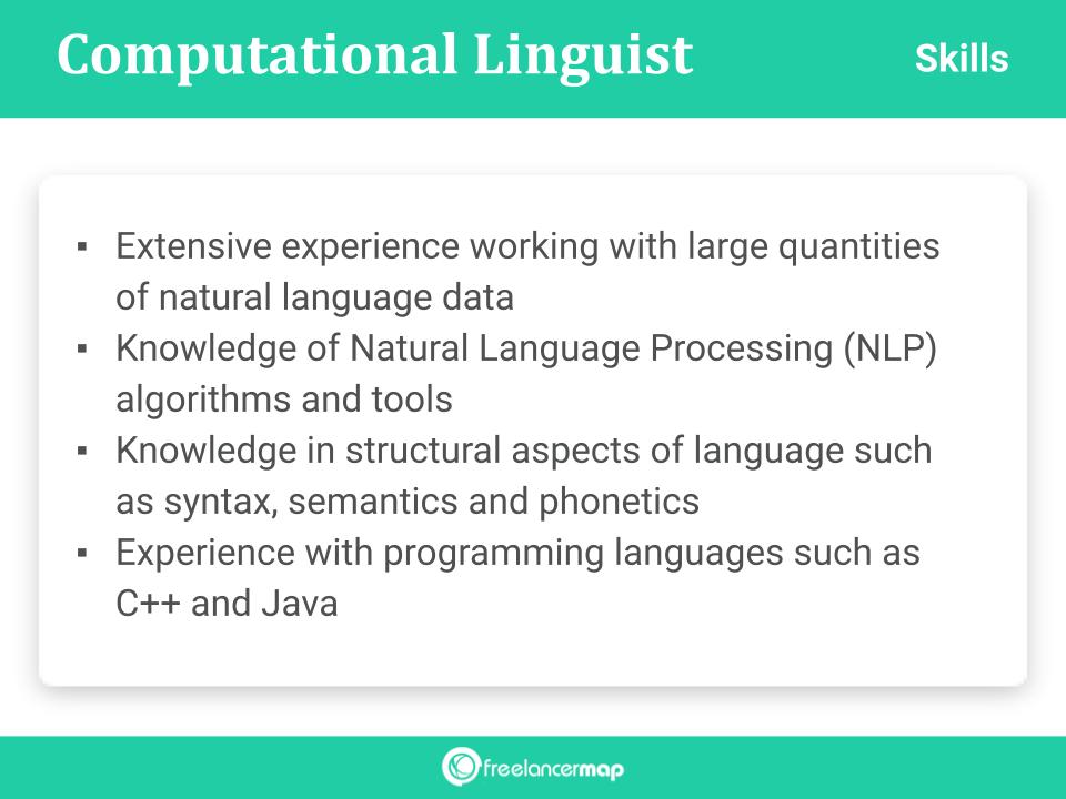 Skills Of A Computational Linguist